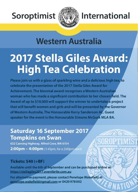 Stella Giles Event Flyer 2017