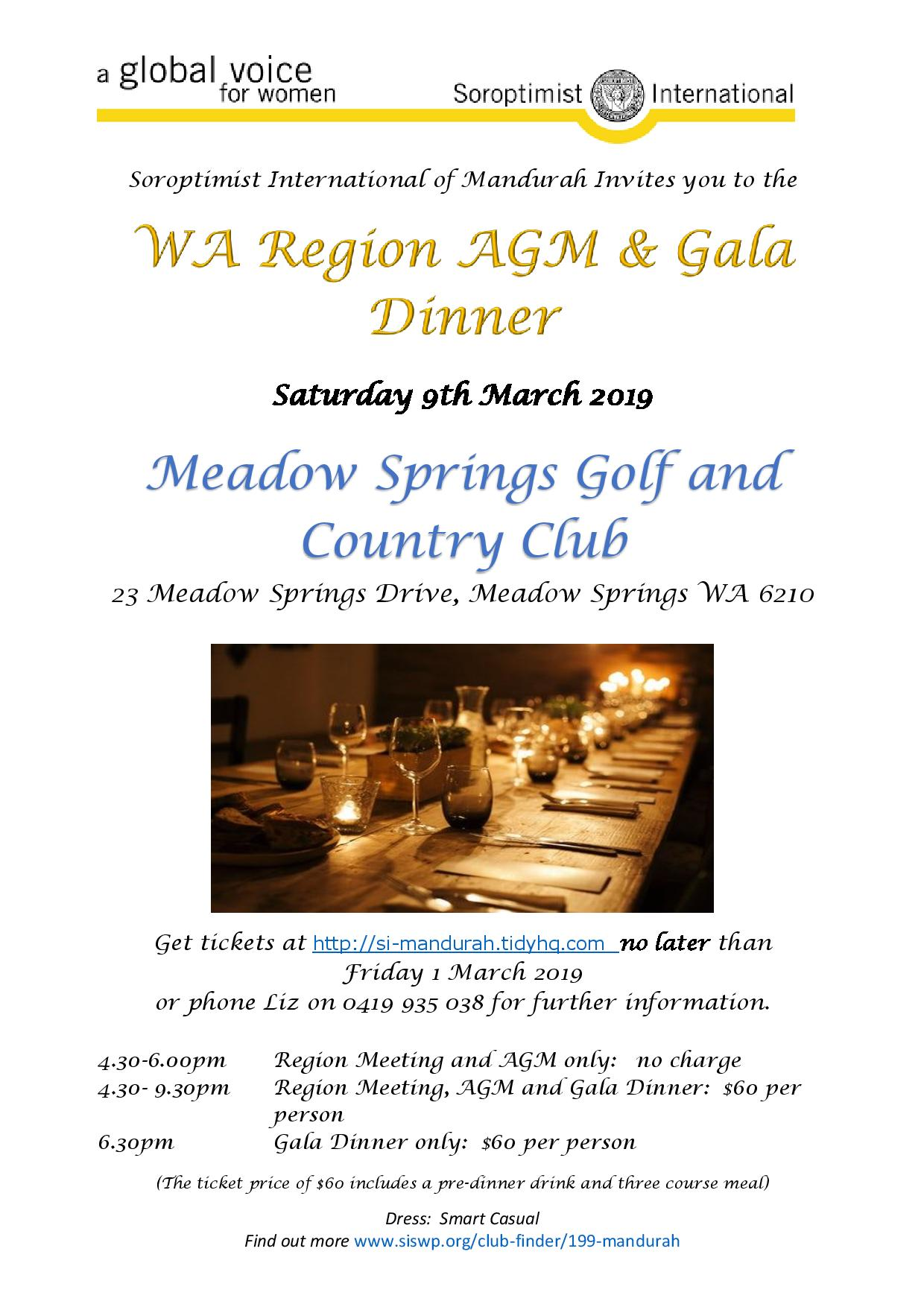 Region AGM Gala Dinner Flyer